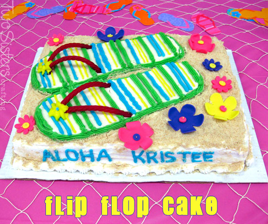 Flip Flop Themed Birthday Cakes