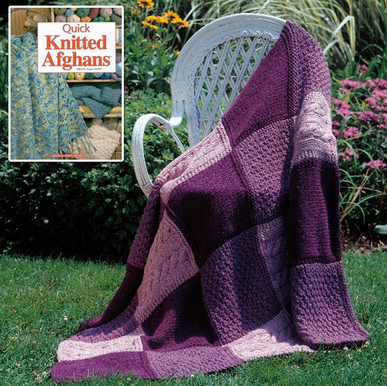 Knitting Pattern Quilt : Knitted Afghan for a Bridal Shower - Two Sisters Crafting