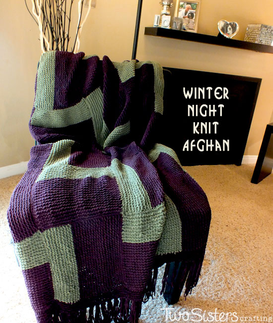 Winter Night Knitted Afghan Two Sisters