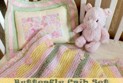 Butterfly Crib Set