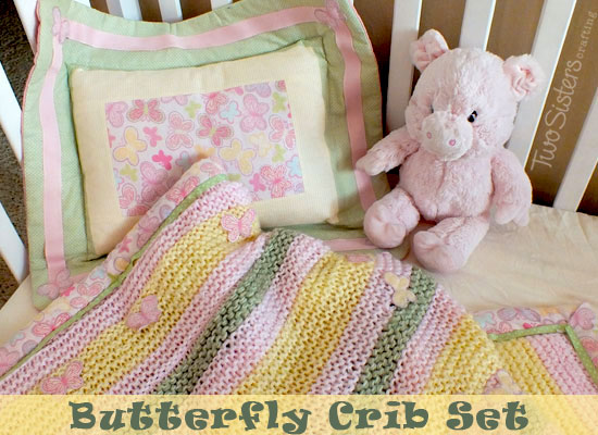 Baby Girl Crib Bedding with Butterfly Theme