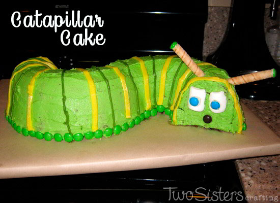 Caterpillar Cake Two Sisters