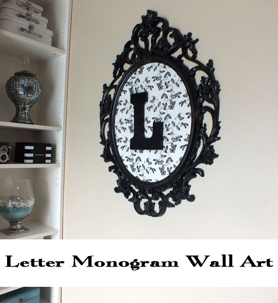Letter Monogram Wall Art