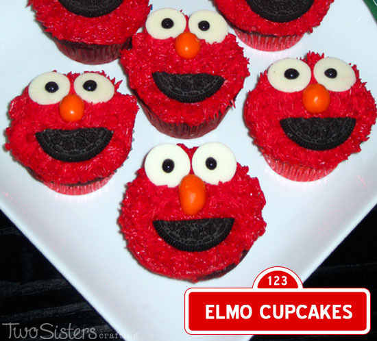 sesame street cupcakes instructions