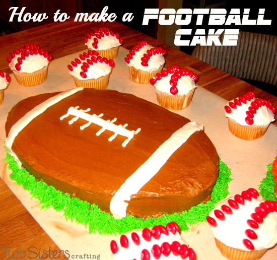 Football Cake Decorating Ideas How To Make : Sports Cakes - Two Sisters Crafting