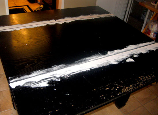 Spackled edge of Craft Table