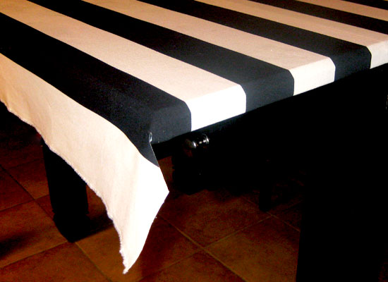 Fabric Covered Table Corners