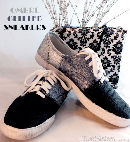 Ombre Glitter Sneakers