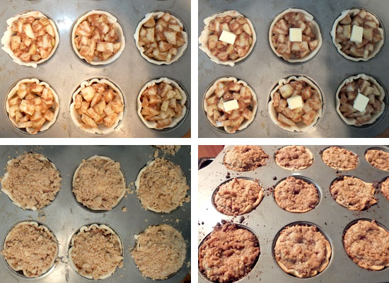 Fill Pie Shells with Apple Mixture