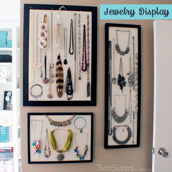 Jewelry Display wth Picture Frames