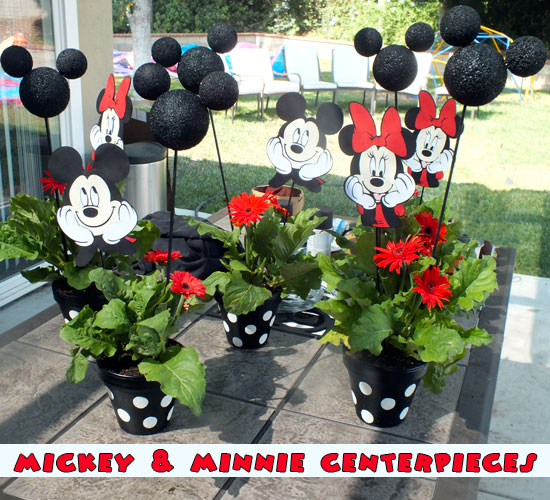 Mickey and minnie centerpieces two sisters crafting