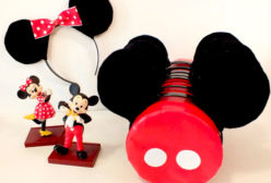 Minnie Mouse Ears and Mickey Mouse Ears with Stand