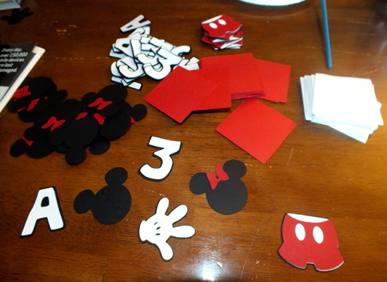 Mickey Mouse Invitation Cut-Outs