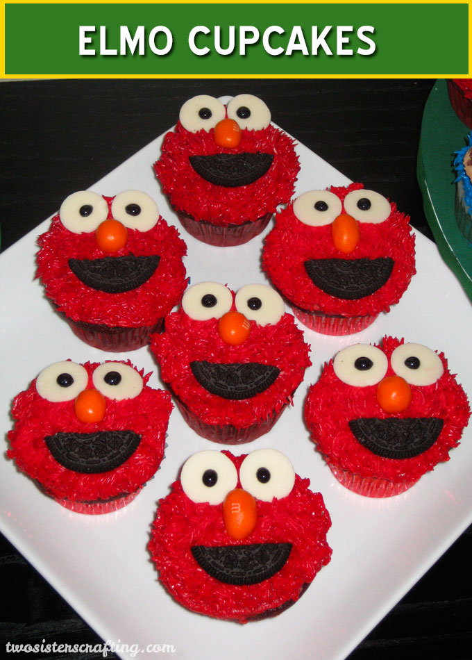 How To Make A Elmo Cupcake Cake