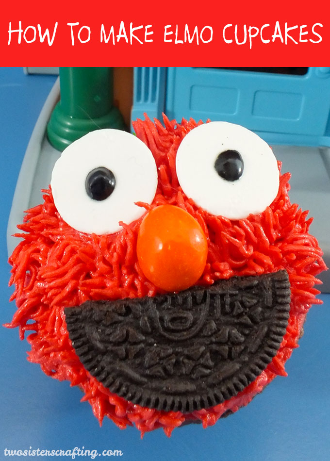 These adorable Elmo cupcakes are so fun to make, kids love them and they are perfect for a Sesame Street Birthday Party or an Elmo Party. Follow us for more fun Sesame Street Party Ideas.