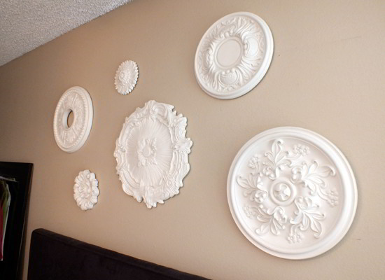 Ceiling Medallion Wall Art - Attaching them to the wall