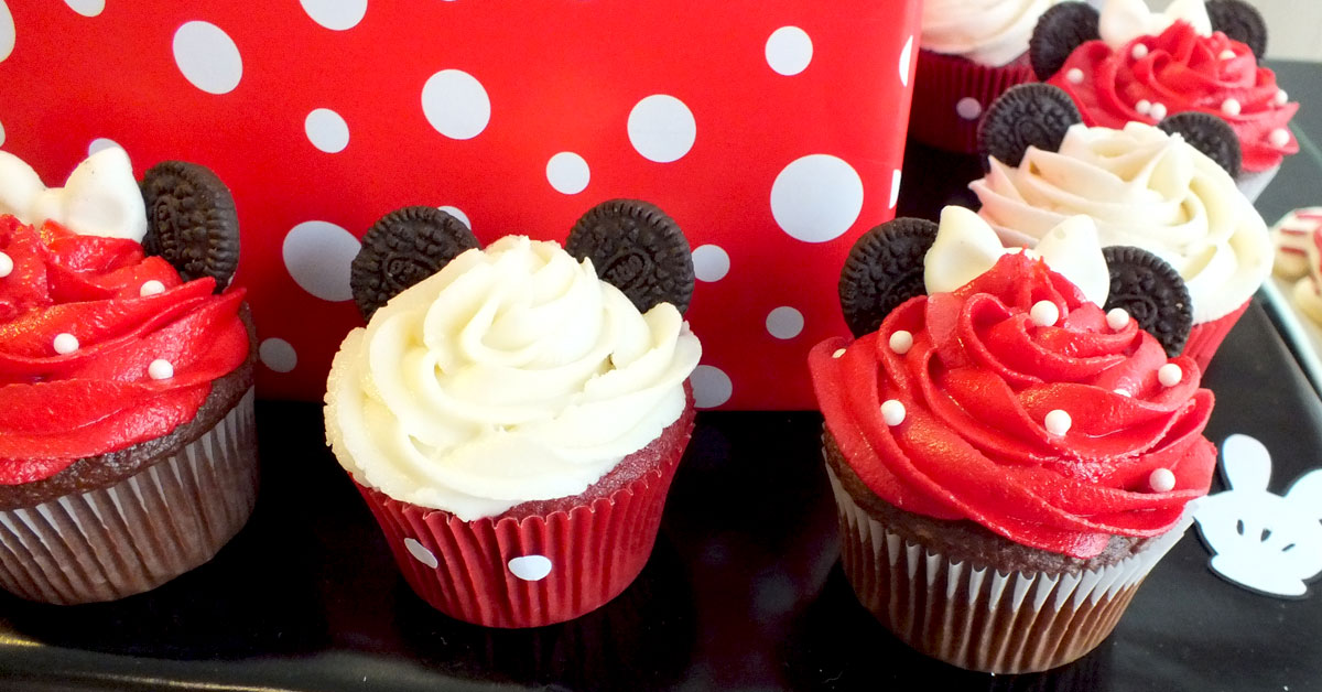 Mickey & Minnie Mouse Cupcakes - Two Sisters
