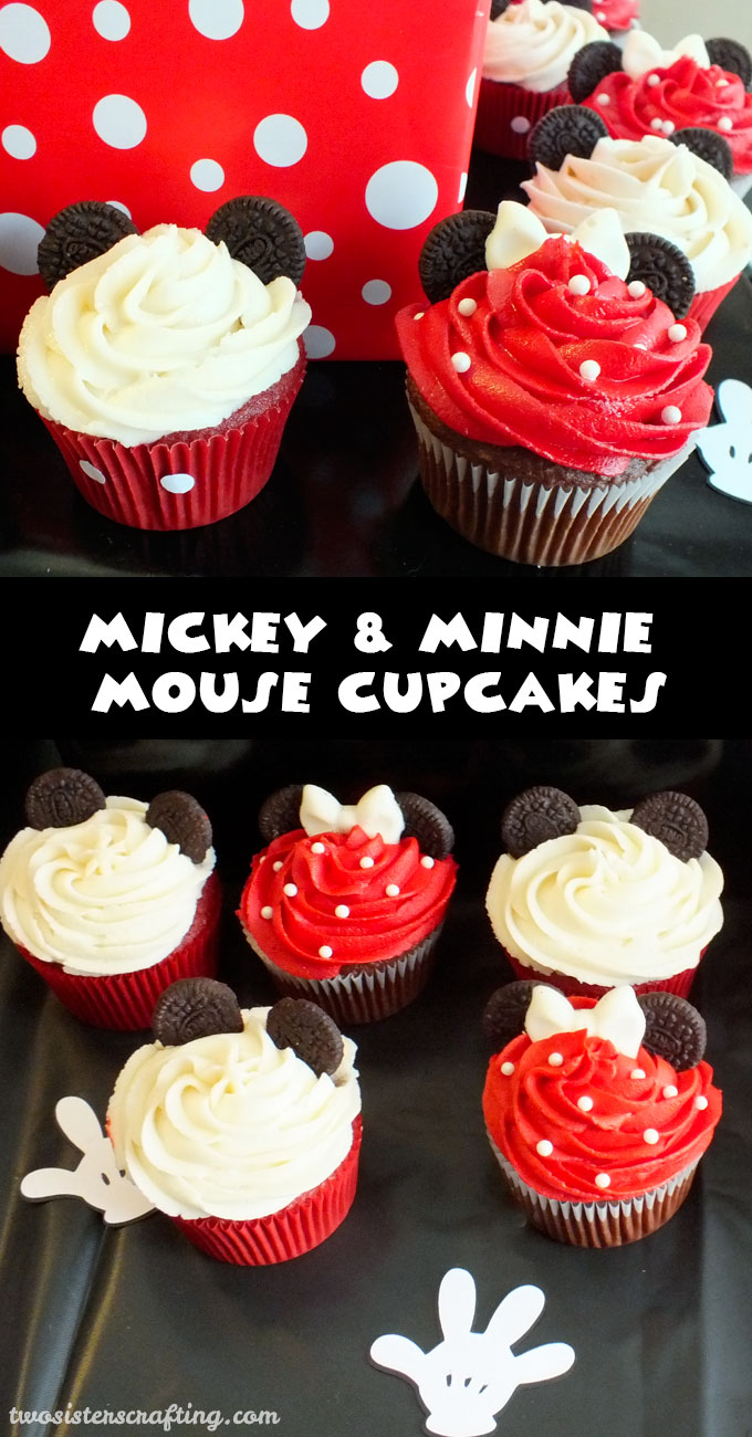 Mickey Amp Minnie Mouse Cupcakes Two Sisters Crafting