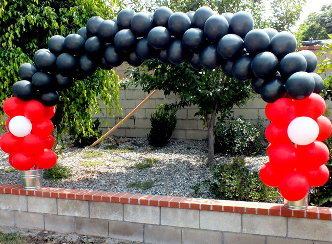 We made our own Mickey Mouse Balloon Arch for a Mickey Mouse Birthday Party and we have all the step-by-step instructions so you can do it too. Follow us for more great Mickey Mouse Party Ideas.