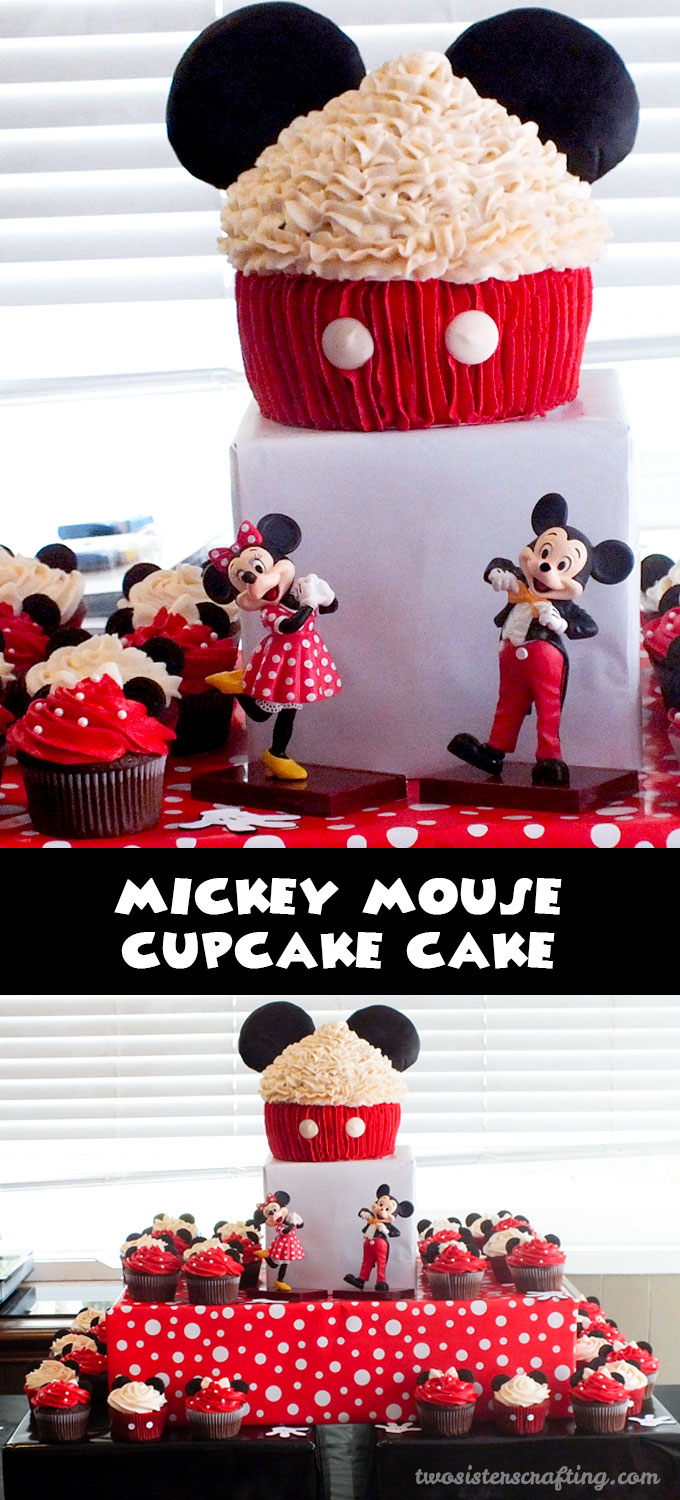 Mickey Mouse Cupcake Cake - Two Sisters Crafting