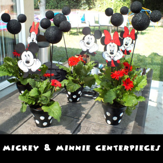 Mickey and Minnie Centerpieces