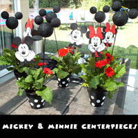 Mickey & Minnie Mouse Centerpieces