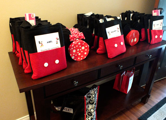 Mickey Mouse Party Favor Bag - Two Sisters Crafting