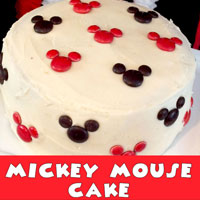 Mickey Mouse M&M Cake