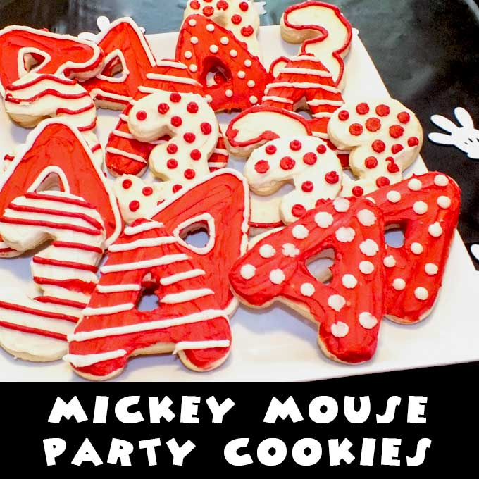 Mickey Mouse Party Cookies Two Sisters Crafting
