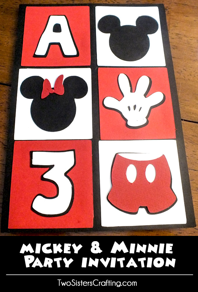 We love how our Mickey Mouse Party Invitations turned out! Made with craft paper and a Cricut cutting machine, we have step-by-step directions and pictures for so you can make them for your own Mickey Mouse Birthday Party. Follow us for more great Mickey Mouse Party Ideas.
