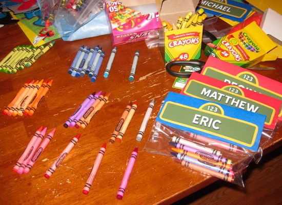 Sesame Street Crayon Party Favors - Two Sisters Crafting