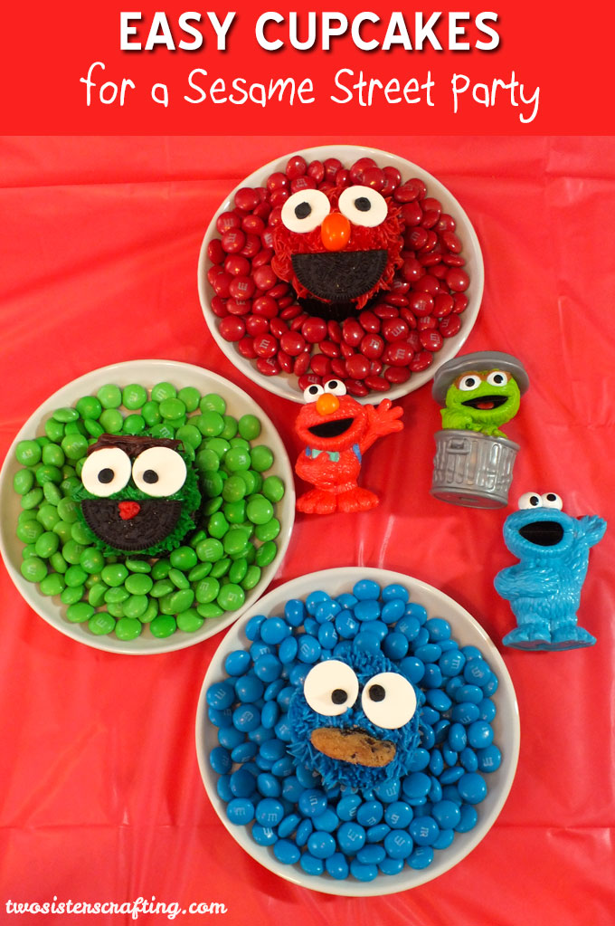 Looking for Easy Cupcakes for a Sesame Street Party? We show you how to decorate Sesame Street Cupcakes for a Sesame Street Birthday Party including Elmo, Cookie Monster and Oscar the Grouch. Follow us for more fun Sesame Street Party Ideas.