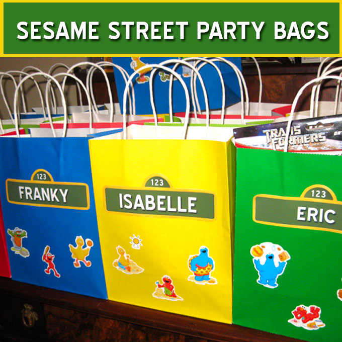 Sesame Street Party Favor Bags Two Sisters