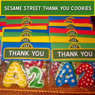 Sesame Street Thank You Cookies