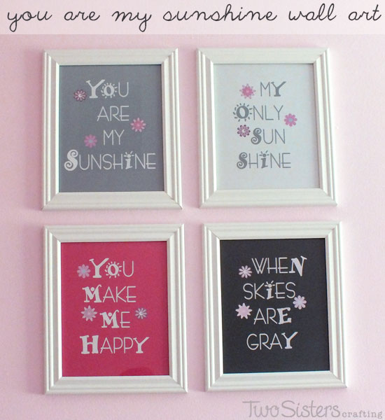 You Are My Sunshine Wall Art Project
