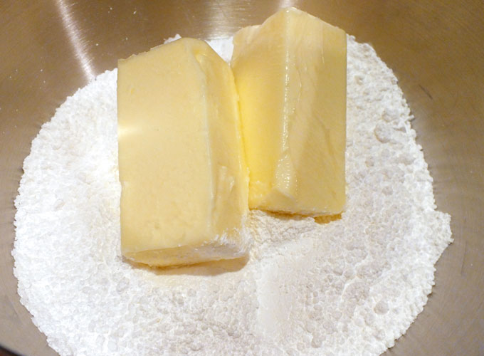 Add two sticks of softened butter