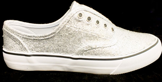 Glitter Sneakers - After Three Coats of Glitter