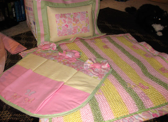 Baby Girl Crib Bedding for Baby Shower