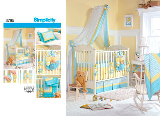 Simplicity Pattern For Baby Crib Bedding Set