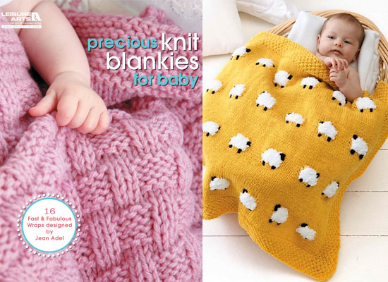 Precious Knit Blankies for Baby by Jean Adel