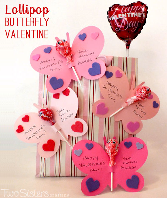 Lollipop Butterfly Valentine