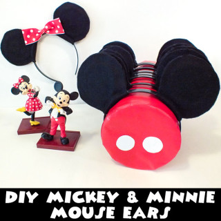 DIY Mickey & Minnie Mouse Ears