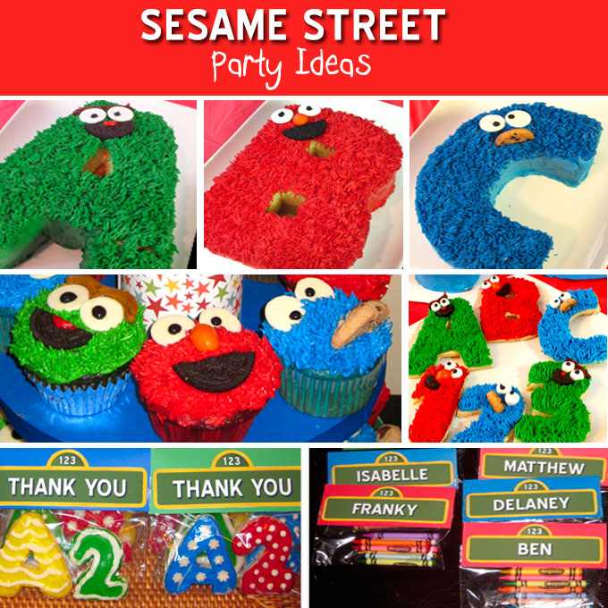 Sesame street party ideas two sisters crafting