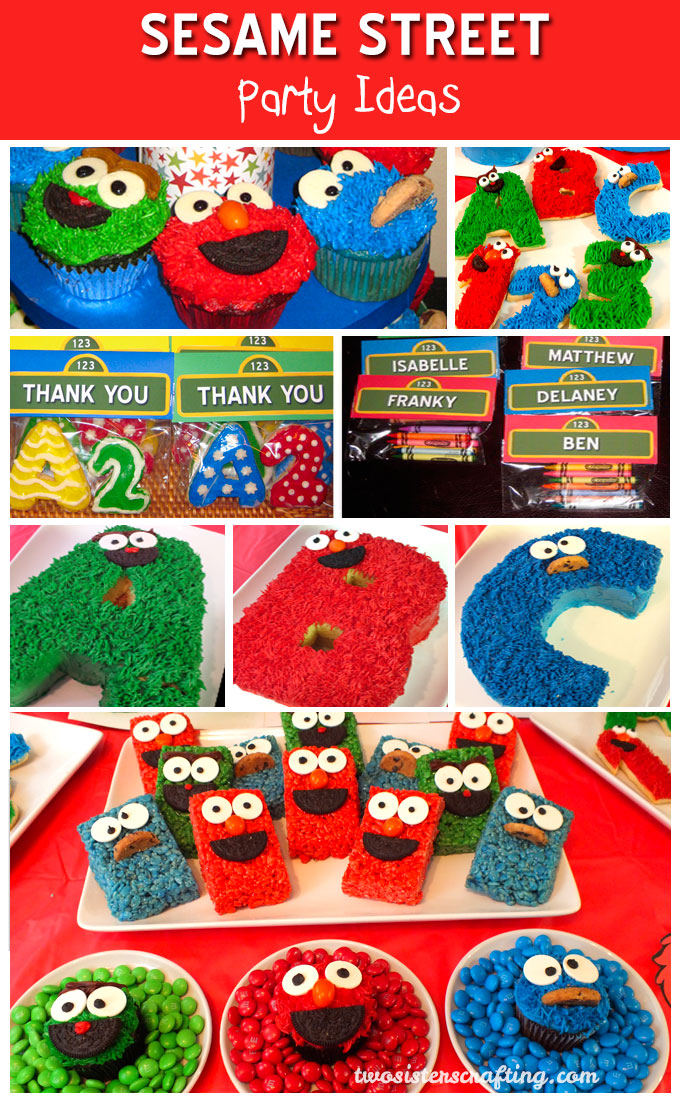 We threw a Sesame Street Birthday Party for a 2-year-old and we have all the fun and colorful Sesame Street Party Ideas you'll need to do the same!  Kids will love these Seasame Street themed treats and party favors and you'll love how easy they are to make!  Follow us for more fun Sesame Street Party Ideas.