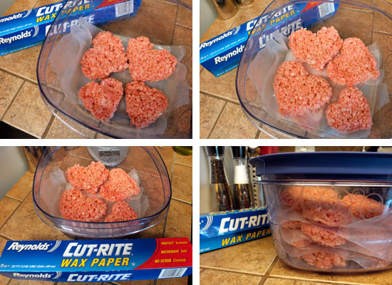 how to store rice krispie treats