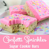 Confetti Sprinkles Sugar Cookie Bars