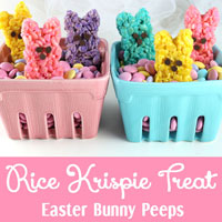 Rice Krispie Treat Easter Bunny Peeps