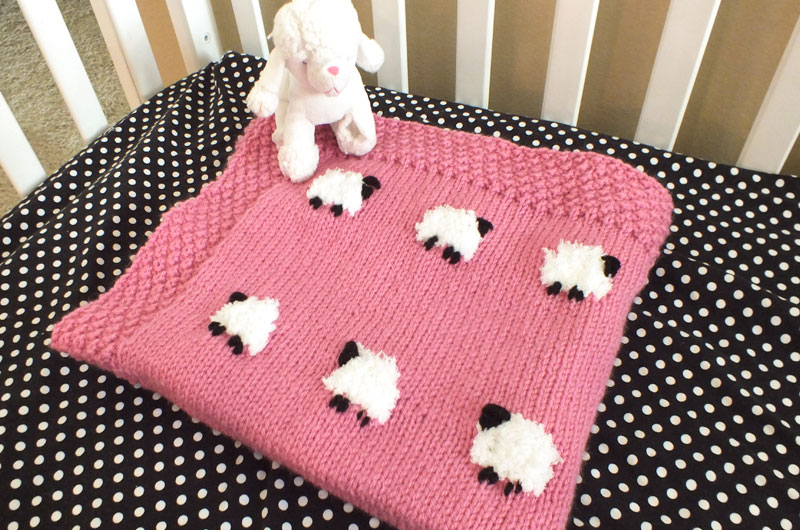 Sheep Baby Blanket Two Sisters