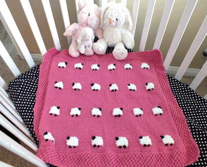 Sheep Baby Blanket Two Sisters Adorable Baby Blanket Pattern