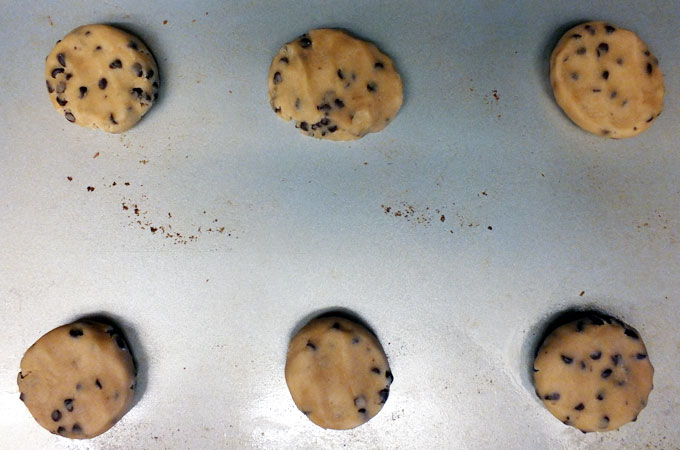 Prepare Spring M&M Cookies for baking